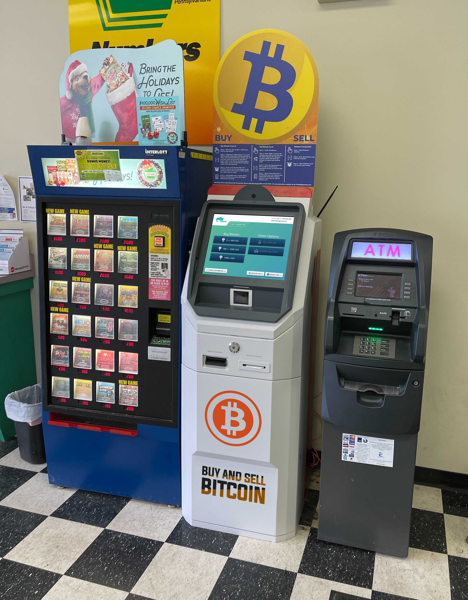 Allentown Bitcoin ATM Hippo Kiosks Uniuted Cash Checking Liberty St